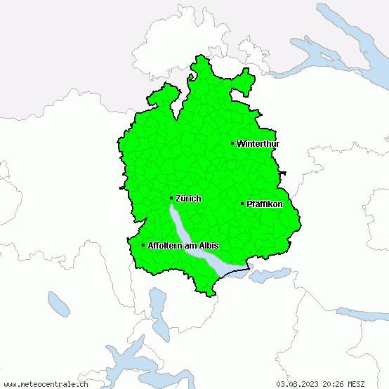 Cartina Zurigo.Centro Di Allerta Meteo Zurigo Tutti Gli Allarmi
